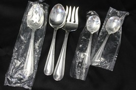 Oneida Becket Serving Spoons and Meat Fork Set of 5 - $34.30