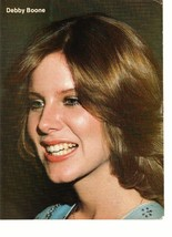 Debby Boone Lance Kerwin teen magazine pinup clipping side profile shot rare
