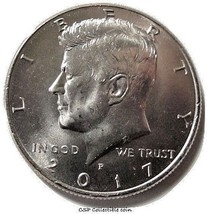 2017 P Kennedy Half Dollar BU US Coin - $1.24