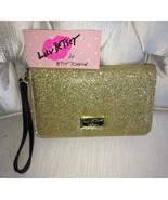 Betsey Johnson Wallet Wrist let Luv Betsey Glitzy Metallic Gold - $23.00