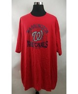 Washington Nationals T Shirt MLB Red Mens Size 6XL  - $19.99
