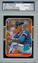 Greg Maddux Signed 1987 Donruss Cubs Rookie Card #36 - PSA/DNA - $235.00