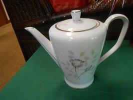 "Magnificent Rosenthal Germany Peach BROWN-GRAY Rose ...Tea Pot 8.5"" - $42.16"