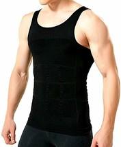 Men's Compression Shirt Slimming Body Shaper Abdomen Slim Shirt Hide Gyn... - $14.84