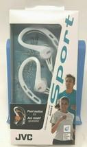 JVC HAECX20W Sports Clip Inner Ear Headphones White Water Resistant - $20.99