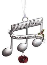 Music Lovers Triplet Notes Christmas Ornament w/Carol Lyrics -I Want to ... - $7.43