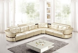 AE-L716M-CRM 4pcs Cream Adjustable Headrest Sectional Sofa Set - $2,688.12