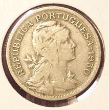 KM# 577 1930 Portuguese 50 Centavos Low Mintage #0904 - $5.49