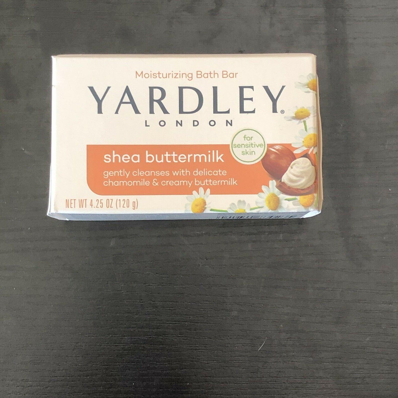 New Yardley London Sensitive Skin Shea Buttermilk Bar Soap, 4.25 oz (Pack of 3)