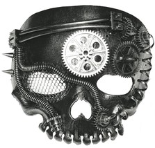 Steampunk Mask Skeleton No-Jaw Prop Adult Scary Black Halloween SS73779 - $38.99