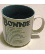 "Bonnie Name Meaning ""Lovely"" Poem byn Marci G. Coffee Collectible Name M... - $13.59"
