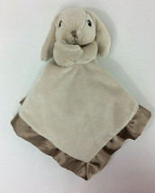 Cloud B Tan Bunny Rabbit Security Blanket Baby Plush Lovey Satin Peekaboo - $25.53