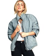 Free People Dolman Quilted Denim Jacket Size M - £112.88 GBP