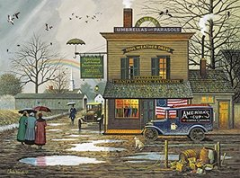 Buffalo Games - Charles Wysocki - Dampy Donuts on a Dreary Day - 1000 Piece Jigs - $24.98