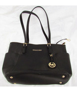 Michael Kors designer purse zip tote black side pockets AS IS - $54.00