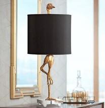 Ibis Table Lamp Crane Heron Bird Black/Gold Horchow Cyan Modern 05206 Wh... - $454.41