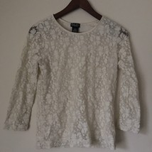 Lovely Raffaela PETITE cream lace blouse with stitched cami. Size P - $8.99