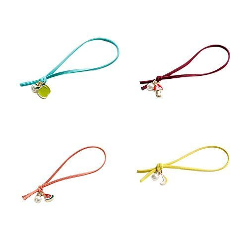 4 Pieces Of Colourful Christmas Fruit Hair Ring Hair Accessories