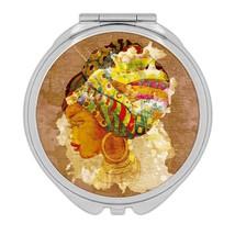 African Woman Portrait Juneteenth : Gift Compact Mirror Ethnic Art Black... - $12.99