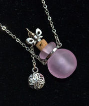 Perfume Bottle Necklace, Snuff Necklace, Stash necklace, Murano, lampwor... - $19.99