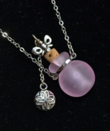 Perfume Bottle Necklace, Snuff Necklace, Stash necklace, Murano, lampwor... - $17.99