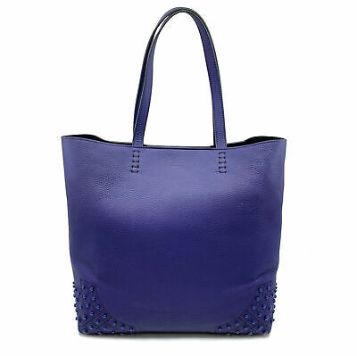 Primary image for Tod's Satchel Wave New Tote Soft Gommini Violet XBWAMRFT301MACL-411