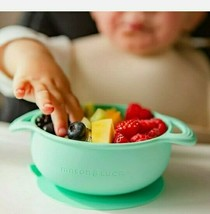 Silicone Baby Bowl with Lid and Spoon SetPerfect Suction Bowls for Todd... - $11.08