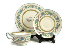 3 Piece Wedgwood China SHAH Cream Salad Plate Saucer & Cup Set   - $38.60