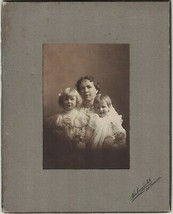 Vintage Cabinet Photo of Mother and Two Young Children ~ All Named~San F... - $12.16
