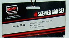 MHP SR7B Chrome Plated Skewer BBQ Grilling Rods Set of 6 image 3