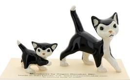 Hagen-Renaker Miniature Ceramic Cat Figurine Black and White Tuxedo Cat Set image 1