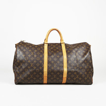 "Vintage Louis Vuitton Monogram Coated Canvas ""Keepall Bandouliere 55"" Bag - £719.51 GBP"