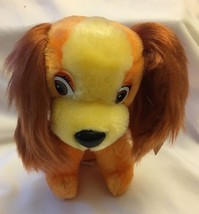 "Walt Disney Productions 7"" Lady Plush from Disney Lady & the Tramp Vintage Tag - $14.99"