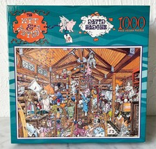 Vintage Pillow Fight The Wit & Whimsy of David Badger 1000 Piece Puzzle - $16.10