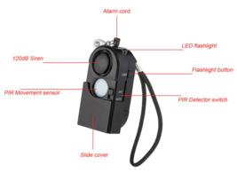 Camping Travel Portable Mini PIR Infrared Motion Sensor Detector Alarm 1... - $18.99