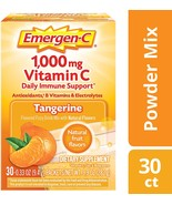 30 ct Emergen-C Vitamin C 1000mg Daily Immune Support Tangerine Orange Raspberry - $11.99