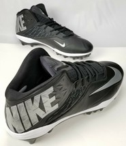 Men's Nike Zoom Code Elite 3/4 Football Cleats 603368-002 Black Size 18 New - $39.59