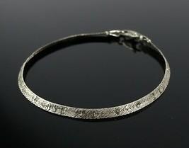 Vintage .925 Sterling Silver Signed SU Herringbone I LOVE U Tennis Brace... - $15.96