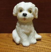 Homco White Dog Figurine - $7.99
