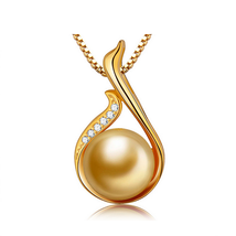 Fashion Women Sterling Silver Zircon Swan Pearl Pendant - $14.99