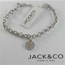 SILVER 925 BRACELET JACK&CO JERSEY INTO RINGS AND PENDANT GOLD PINK 9 CARATS image 6