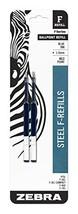 Zebra F-Series Ballpoint Stainless Steel Pen Refill, Medium Point, 1.0mm... - $5.44