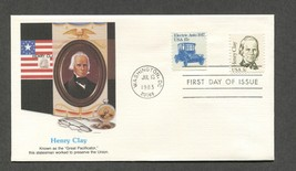 July 13 1983 FDC Henry Clay Stamp #1846 Fleetwood - $3.99