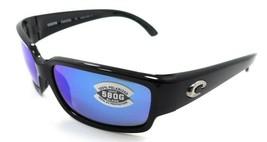 Costa Del Mar Sunglasses Caballito 59-15-134 Shiny Black/ Blue Mirror 58... - $245.00