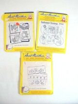 Aunt Martha's Hot Iron Transfers Embroidery Needlepoint Lot of 3  - $6.68