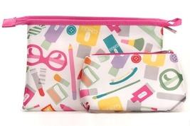 Clinique Logo Print Makeup Cosmetic Bag Set - $2.50