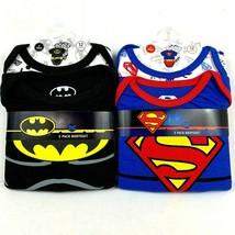 4 Batman and Superman Bodysuits Size 12 Months DC Comics  - $16.46