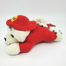 "9"" Vintage Dakin Dalmatian Fireman Puppy Dog Fritz Laying Plush Toy B350 - $34.99"