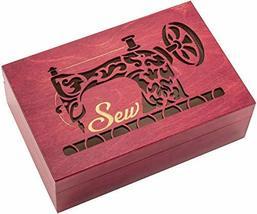 Sew Box Cut-Out Lid Polish Handmade Decorative Wooden Box - $44.54