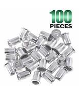 Keadic 100Pcs Aluminum Rivet Nut Metric Flat Head Threaded Insert Nutser... - $18.85